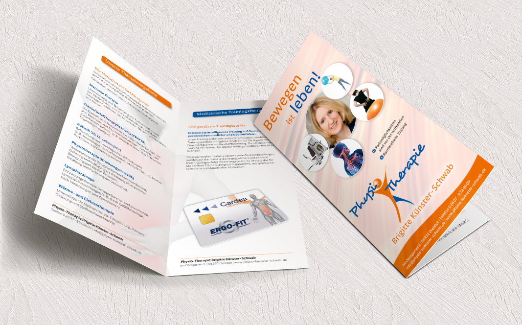 Flyer Physiotherapie Brigitte Künster-Schwab